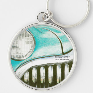 '49 Buick' Green vintage car keychain