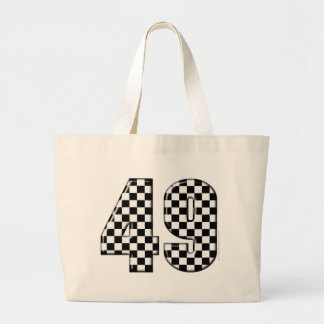 49 checkered number tote bags