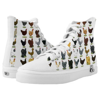 49 Chicken Hens Printed Shoes