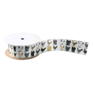 49 Chicken Hens Satin Ribbon