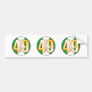 49 NIGERIA Gold Bumper Sticker