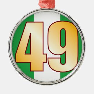 49 NIGERIA Gold Christmas Ornament