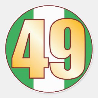 49 NIGERIA Gold Classic Round Sticker
