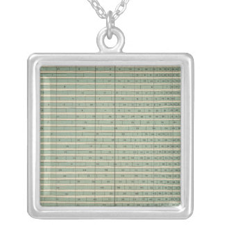 49 Persons born in ea state Silver Plated Necklace
