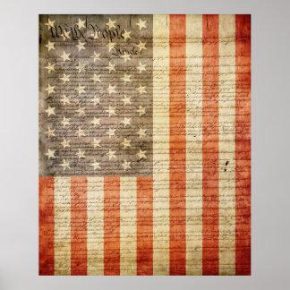49 Star American Flag Poster