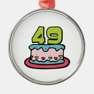49 Year Old Birthday Cake Ornaments
