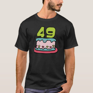 49 Year Old Birthday Cake T-Shirt
