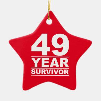 49 year survivor ceramic star decoration