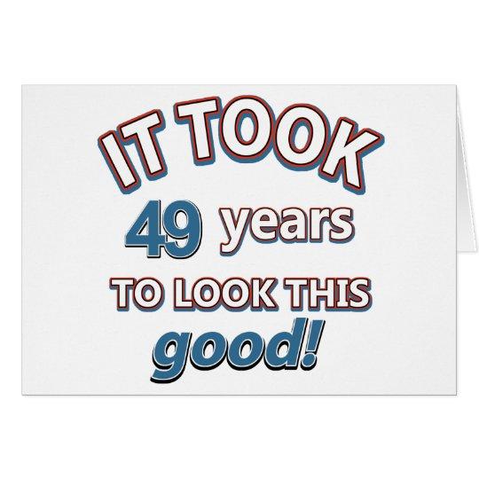 49th birthday designs card