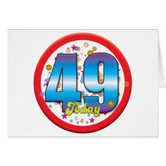 49th Birthday Today v2 Greeting Card