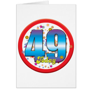 49th Birthday Today v2 Greeting Cards