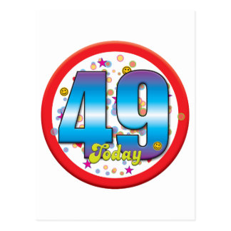49th Birthday Today v2 Post Card