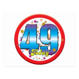 49th Birthday Today v2 Postcard