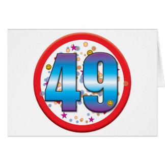 49th Birthday v2 Cards