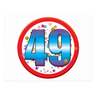 49th Birthday v2 Postcard