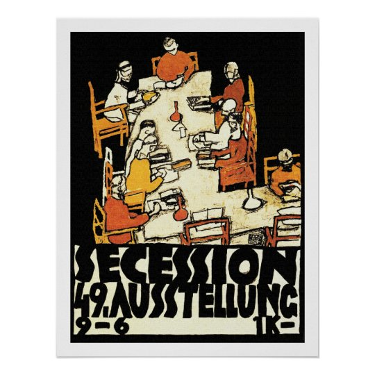 """49th Secession Ausstellung (""""friends"""") Poster"""