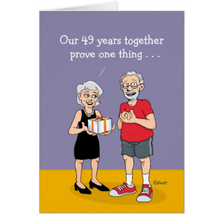 49th Wedding Anniversary Card: Love Card