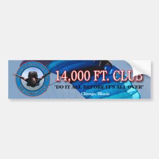 !4,000 ft. Club Bumper Sticker