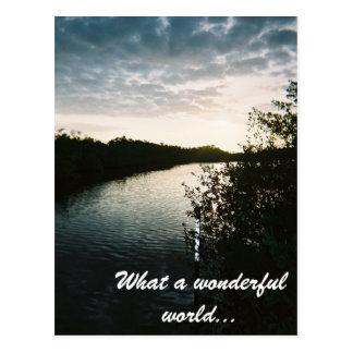 4-11-2007-07, What a wonderful world... Postcard