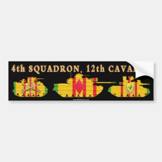 4 12th Cavalry VSR Armored Fighting Vehicles Bumper Stickers