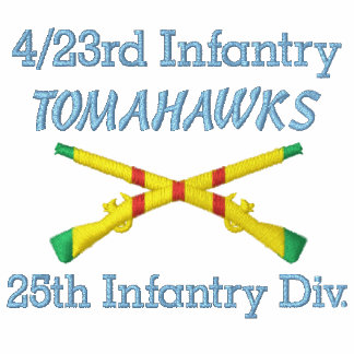 4/23rd Inf. 25th Inf Div VSM Crossed Rifles Shirt
