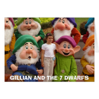 4-24-2006-06, GILLIAN AND THE 7 DWARFS GREETING CARD