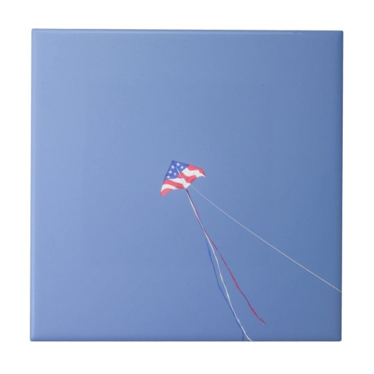 "4.25""x4.25"" Ceramic Tile,Coaster - Stars N Stripes Tile"