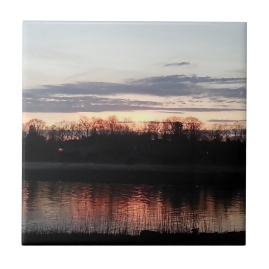 "4.25"" x 4.25"" Ceramic Tile - Coastal Sunset"