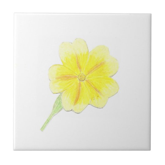 "4.25"" x 4.25"" Ceramic Tile, Coaster - Sunshine"