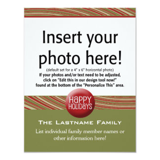 4.25 x 5.5 Double-sided Holiday Photo Cards -Not Announcements