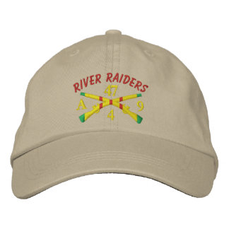 4/47th Inf. Crossed Rifles River Raiders Hat Embroidered Hat