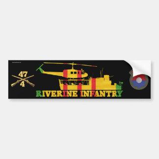 4/47th Inf. MRF ATC(H), Patch & Rifles Sticker Bumper Sticker