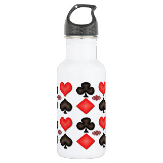 4 Aces Playing Cards Pattern 16oz 532 Ml Water Bottle