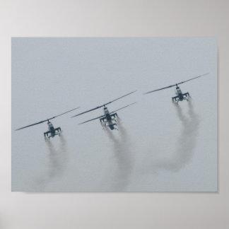 4 AH-1 Cobra Gunships in S.C. Poster