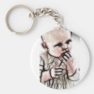 4 - Baby Dark Gear Basic Round Button Key Ring