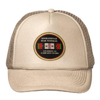 4 CAMPAIGN STARS AFGHANISTAN WAR VETERAN CAP