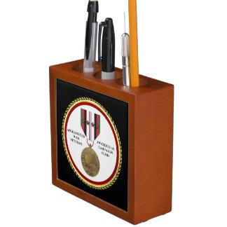 4 CAMPAIGN STARS AFGHANISTAN WAR VETERAN Pencil/Pen HOLDER
