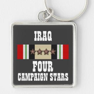 4 CAMPAIGN STARS / IRAQ VETERAN / KEY CHAIN