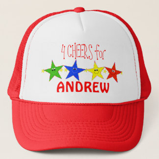 4 Cheers 4 Smiley Star Characters hat