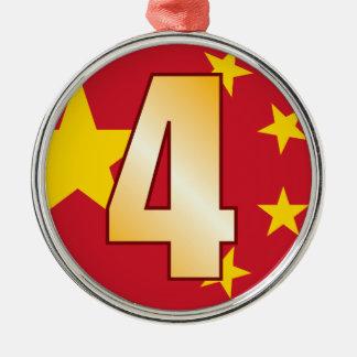 4 CHINA Gold Christmas Ornament