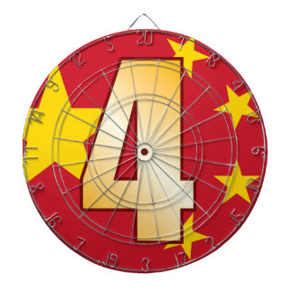 4 CHINA Gold Dartboard