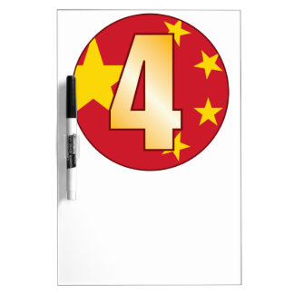 4 CHINA Gold Dry Erase Board