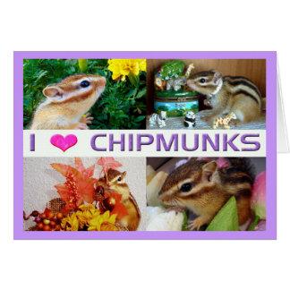 4 chipmunks (photo) , customizable greeting card