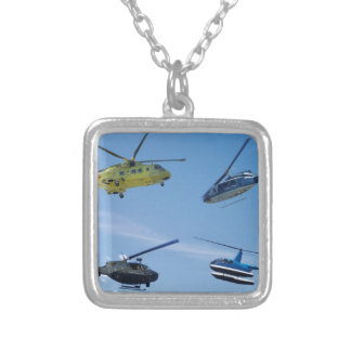 4 Chopper Silver Plated Necklace