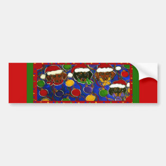 4 Christmas Bumper Sticker
