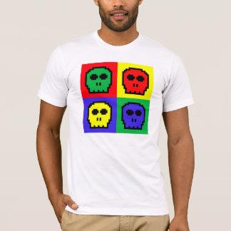 4 Color Retro 8-bit Skulls T-Shirt
