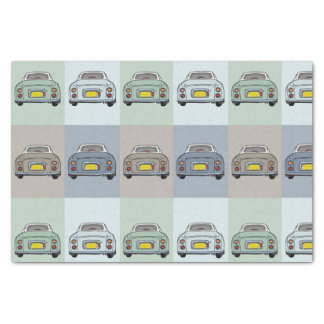4 Colours of Figaro Cars Tissue Paper