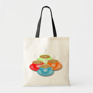 4 Cups of Coffee Tote Bag