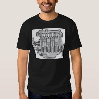 4 cylinder engine vector tshirts