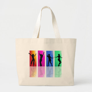 4 dancers multicolor large tote bag